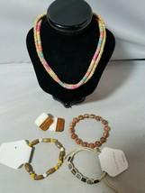 Mujer Fashion Jewelry Set Madera Cuenta Boho Playa Tribal Pulseras Collares - $38.90
