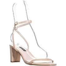 Nine West Provein Ankle Strap Block Heel Sandals, Light Natural, 10 US - $32.63