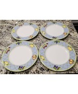 SET of 4 ~ Mikasa Optima  FRUIT RAPTURE  Dinner Plates Y4001 - $46.80