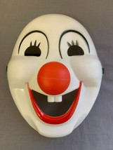 MASQUERADE CLOWN RED NOSE HALLOWEEN HARD PLASTIC PVC MASK CHILD SIZE - $12.97 CAD