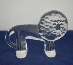 Vintage KOSTA BODA Sweden Glass Lion Paperweight Erik Hoglund Zoo Series  - $24.95