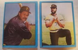 1982 Topps Baseball Album Stickers #85 Willie Stargell & #87 Dave Parker Pirates - $1.00
