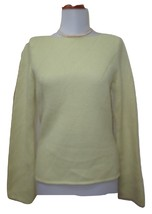 EUC - ANN TAYLOR Light Lime Green 100% Thick Cashmere Boat Neck Sweater ... - €33,36 EUR
