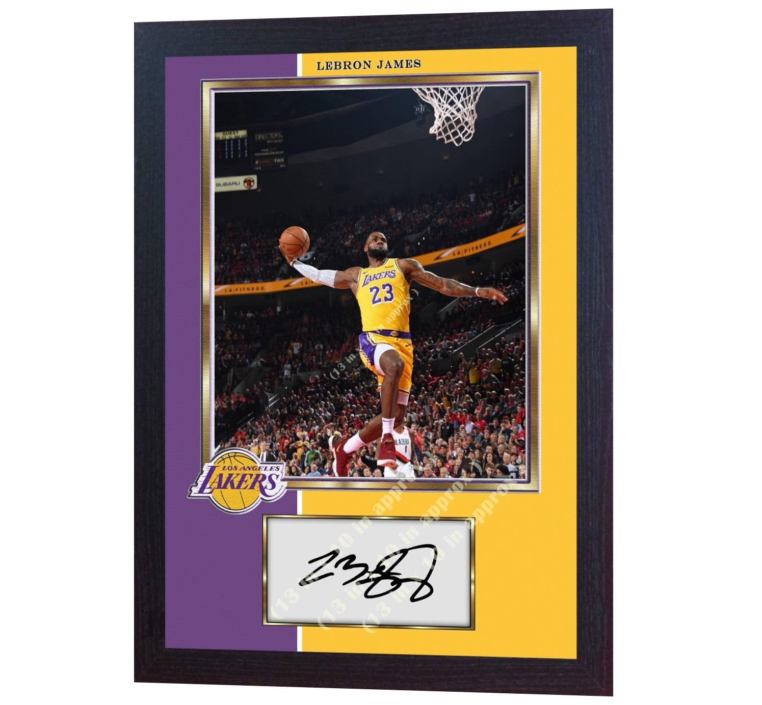 LeBron James NBA Los Angeles Lakers signed autograph LEBRON photo print Framed