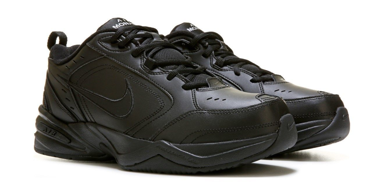 Nike Air Monarch IV Black Cross Training Casual Comfort Shoes [415445-001] Men's
