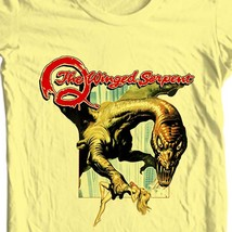 Q the winged serpent movie t shirt retro horror sci fi online store for sale yellow tee thumb200