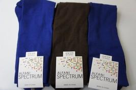 Alfani Spectrum Mens Socks Sz 7 - 12 Cobalt Blue Chocolate Brown 3 Pairs Socks - $14.27