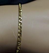 "18K Solid Yellow Gold Mariner Curb Link Bracelet 8"" 4.6 Grams 2.5mm Wide - $243.57"