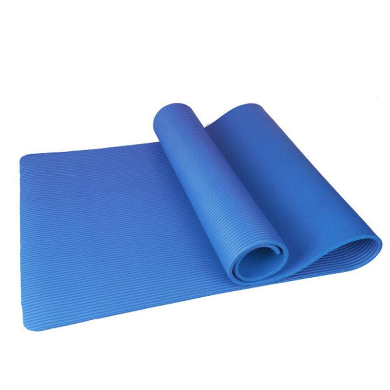 Yoga mat 10mm non slip blue