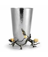 Pomegranate by Michael Aram Stainless Steel, Brass, 24K Goldplate Vase -... - $275.00