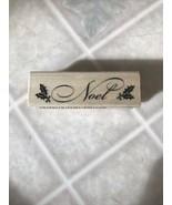 "Craft Smart ""Noel""  Rubber Stamp New 84168-2018-05 - $8.59"