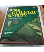 WHICH GOLFER DID THAT A QUIZ JIGSAW PUZZLE Buffalo Games  Golf 252 Pieces  - $7.00