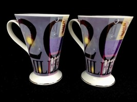 Pair 2000 Millennium Coffee Cups Albert Einstein Hannah Dipper Royal Bur... - $21.01