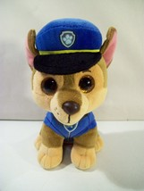 TY BEANIE BABIES PAW PATROL CHASE POLICE DOG PLUSH 2017 - $9.75