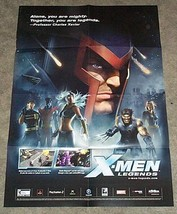 X-Men Legends 27 x 19 Marvel video game promo poster: Wolverine/Rogue/Magneto - $29.69
