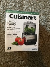 NEW Cuisinart Mini-Prep Food Processor Black Chrome Series 21 Oz DLC-1BC... - $27.71