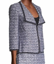 New with Tag - $1,695 St. John Nala Navy Multi Sequin / Tweed Jacket Size 4 image 2