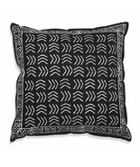 Farmhouse ZIGGY COTTON THROW PILLOW Country White Black Abstract Cushion... - £28.34 GBP