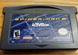 Spiderman 2 Nintendo Game Boy Advance Cartridge Only #AGB-002 Marvel 2004 - $8.79