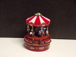 Mr. Christmas 2011 Animated Musical Carousel Animated-Wind up-plays Jing... - $17.82