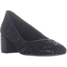 MICHAEL Michael Kors Arabella Heel Studded Kitten Pumps, Black Glitter - $57.99+