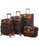 Caribbean Joe Castaway 4-Piece Spinner Luggage Set (Chocolate) - $346.82
