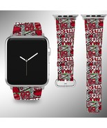 Ohio State Buckeyes Apple Watch Band 38 40 42 44 mm Fabric Leather Strap 4 - $29.97