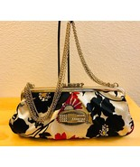 Guess Mutli-Color Floral Satine Boudoir Small Handbag with 4 Chain Strap - $45.00