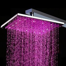 10 Inch Brass Shower Head with Color Changing LED Light - $131.62