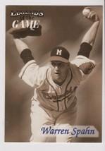 1998 Fleer / SI Legends Warren Spahn card, Milwaukee Braves HOF - $0.99