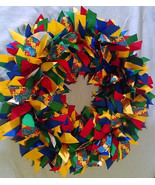 "AUTISM AWARENESS   16"" Ribbon Wreath Custom Made For Each Individual - $50.00"