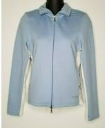Vintage Tommy Hilfiger Womens Track Zip Up Blue Jacket Top Sz M Jeans Sport - $17.99
