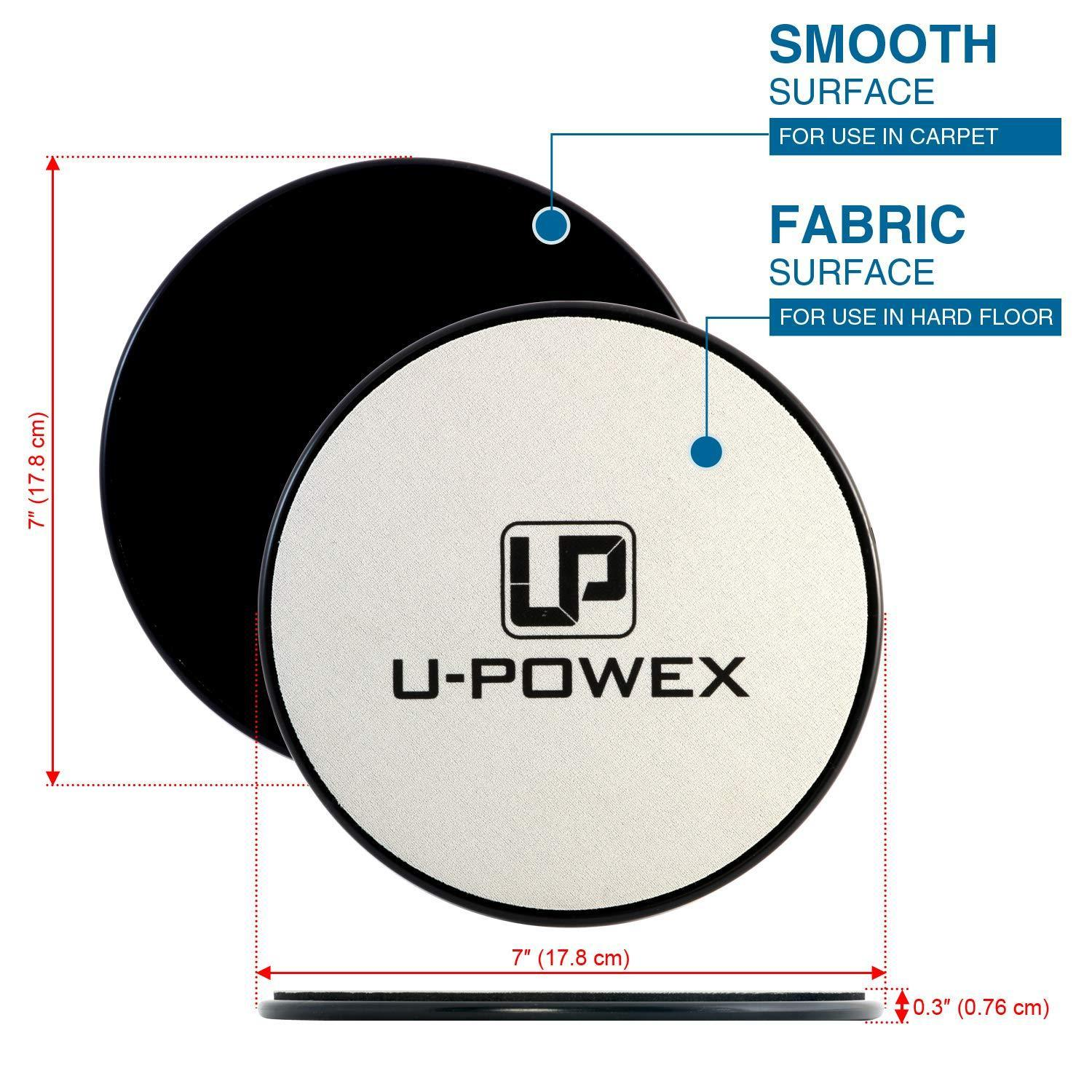 UPOWEX Exercise Sliders  Dual Sided Core Sliders – Work Smoothly on Any Surface. image 4