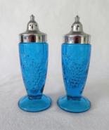 Grape / Vintage Grape footed Shakers, Blue - $12.00