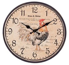 "Rise and Shine COQ Rooster Quartz Wall Clock - 13"" - $26.70"