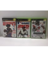 Bundle of 3 Games: Madden 2004, MLB 2K5 & ESPN NBA 2K5 (Microsoft Xbox L... - $0.99