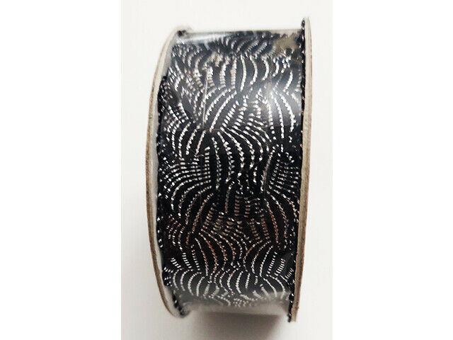 "Hobby Lobby Decorative Trim Black/Silver Ribbon, 5/8"" x 9 Feet"