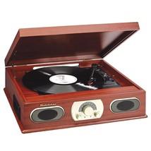 Studebaker SB6052C Wooden Record Player Turntable w/AM/FM Radio & Casset... - £61.82 GBP