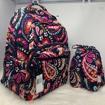 VERA BRADLEY set essential LARGE backpack & lunch bunch Painted Paisley ... - $115.00