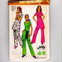 1971 Simplicity Groovy Boho Pantsuit Tunic Carol Brady Look Costume - $10.40
