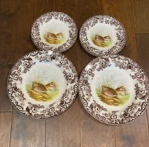 4 Pc Set Spode Woodland Quail set of 2 dinner plates 2 Appetizer Plates ... - $79.99