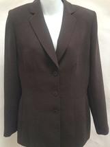 New Anne Klein 8 Jacket Brown Suit Blazer Classic - $24.47