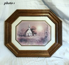 "Framed HOMC0 - Country Church - Octagon - 14½"" x 17½"" O/A - D10 - $27.71"