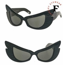 GUCCI Hollywood Forever 0710 Black Butterfly Wing Mask Sunglasses GG0710... - $940.50