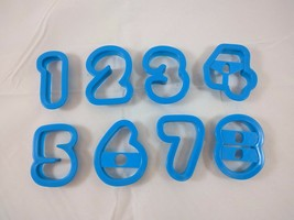 Numbers 1-9 Letters Plastic Cookie Cutters Jello Jigglers Playdough Pres... - $7.38