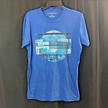 Aeropostale Blue Light Blue Men's design Tee- Shirts Size Medium M - $13.52
