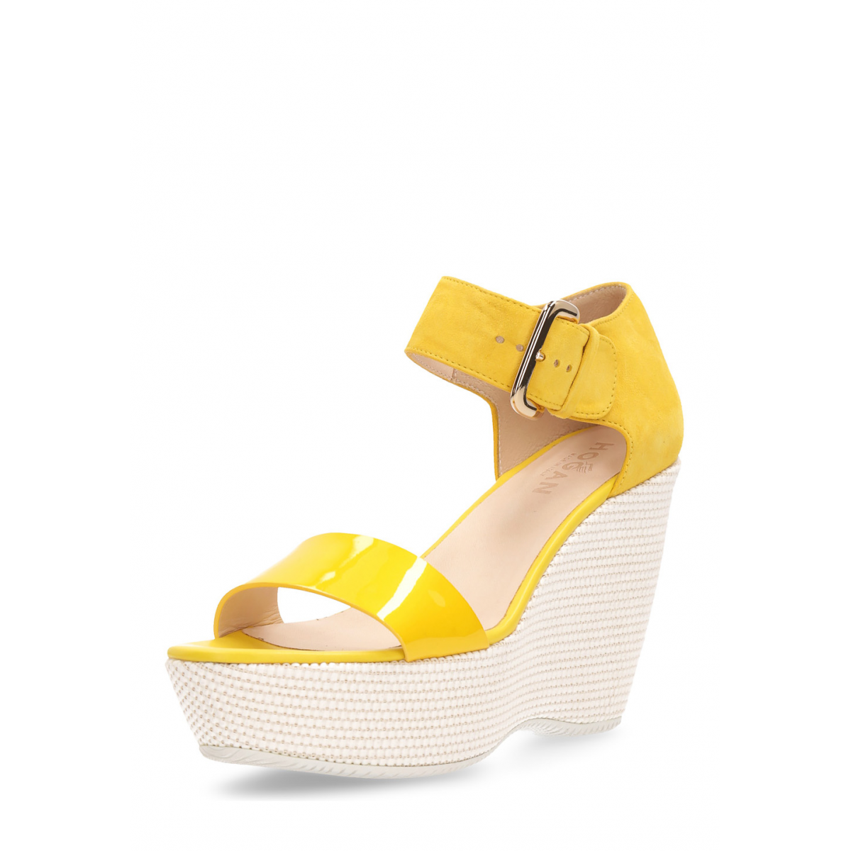 Primary image for Hogan Womens Wedge Sandal Yellow HXW2000H7900NNG013