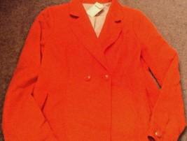 Banana Republic Chevron Texturé Double Boutonnage Blazer Femme Orange Ve... - $31.44