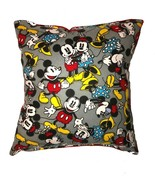 Mickey & Minnie Mouse Pillow Flannel New HANDMADE in USA Pillow Disney M... - $9.99