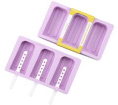 CHEFMADE Purple Popsicle Molds, Silicone Popsicle Maker Ice Pop Molds Li... - $14.01